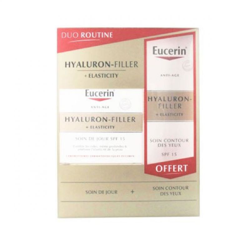 Duo routine Eucerin Hyaluron-filler+elasticity +soin contour des yeux offert