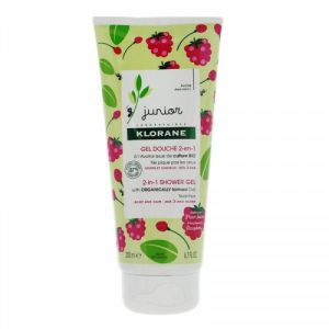 Klorane Junior Gel Douche 2 en 1 Framboise 200ml