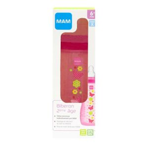 Bib Mam Debit/rapide Rose 330 ml