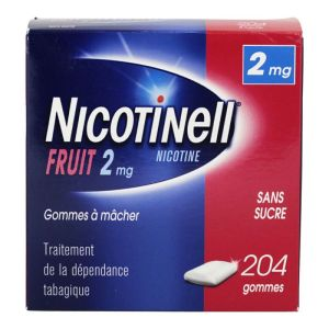 Nicotinell 2mg Gomme Fruit S/s 204